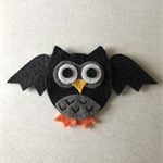Black bat felt embellishment