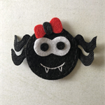 Black spider felt embellishment