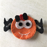 Orange spider felt embellishment