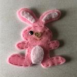 Pink bunny felt embellishment