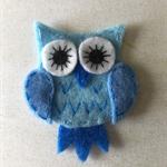 Owl felt embellishment