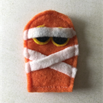 Orange mummy felt embellishment
