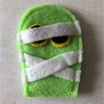Green mummy felt embellishment