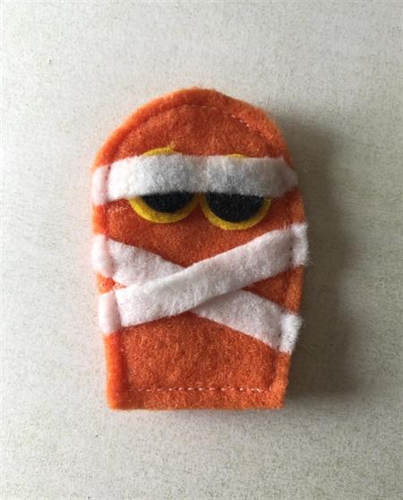 Orange mummy felt embellishment