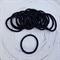 25 x Thick Black Hair Ties/Elastics