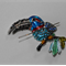 Blue Toucan needle minder