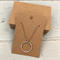 50 Kraft Necklace Display Cards BROWN