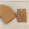 100 Kraft Necklace Display Cards BROWN