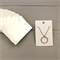 100 Kraft Necklace Display Cards WHITE
