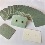 100 Earring Display Cards GREEN