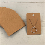 100 Kraft Necklace Display Cards BROWN