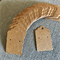 100 Kraft Earring Display Cards BROWN Scalloped Edge 3x5cm