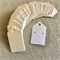 100 Kraft Earring Display Cards WHITE Scalloped Edge 3x5cm
