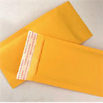 100 sml yellow Kraft padded post bags