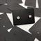 100 Black kraft Earring Display Cards 2.5 x 3.5cm