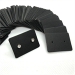 100 Black kraft Earring Display Cards 2.5 x 3.5cm