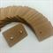 100 Kraft Earring Display Cards Brown