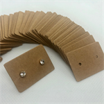 100 Kraft Earring Display Cards Brown