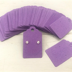 100 Kraft Earring Display Cards PURPLE Scalloped Edge 3x5cm