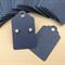 100 Kraft Earring Display Cards BLUE Scalloped Edge 3x5cm