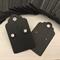 50 Kraft Earring Display Cards BLACK Scalloped Edge 3x5cm
