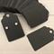 100 Kraft Earring Display Cards BLACK Scalloped Edge 3x5cm