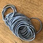 50 x Blue Hair Elastics