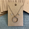 50 Kraft Necklace Earring Display Card BROWN