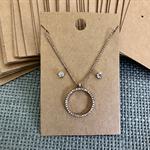50 Kraft Necklace Earring Display Card BROWN