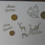 Silver Christmas Die Cuts. Postage Included