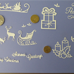 WHITE XMAS DIE CUTS.