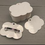 50 Hair Barrette Clip Display Cards WHITE
