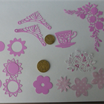Pink Mix Die Cuts.