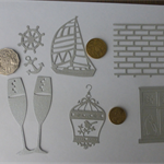SILVER DIE CUTS. Postage Included