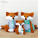 Fox Family Sewing Pattern | PDF Pattern