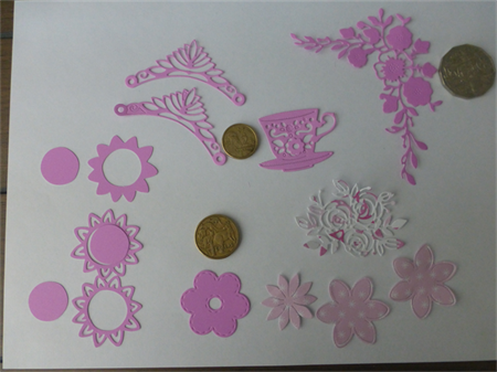 Pink Mix Die Cuts. Postage Included