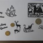 Black Christmas Die Cuts.   Postage Included