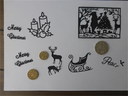 Black Christmas Die Cuts.   Postage Included