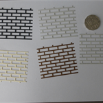 Die Cuts of Brick Wall x 5pce Postage Included