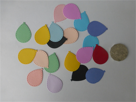 20 pce Balloons Mixed Colour Die Cuts.            Postage Included