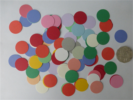 100 pce Mixed Circle Die Cuts.    Postage Included