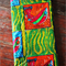 Vibrant African wax print ankara fabric featuring fish print, African sourced