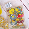 YELLOW themed multi item craft pack - sewing, millinery  mixed media supplies