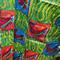 Vibrant African wax print ankara fabric featuring fish print, African sourced