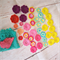 Bulk assorted colours crochet flowers craft kit sewing, scrapbook embellishments