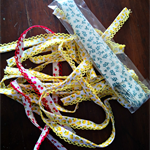Scrap pack of quality 'Liberty' style vintage floral and fruit bias binding trim
