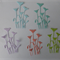 5 Sets Group of 6 Flower Die Cuts