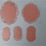 Die Cuts Peach Ovals Postage included