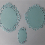 One set of three (3) Ovals Postage Included