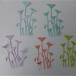 5 Sets of 6 Flower Die Cuts